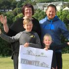 Debbie and Ross Ward with their children Henry (9) and Molly (5) will move into the manager's...
