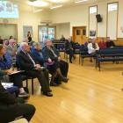 National education spokeswoman Nikki Kaye addresses a public meeting on the future of education...