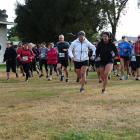 Runners are sent on their way at the start of the 12km run and walk at the Whitehorse Big Easy in...