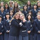 Otago Girls' High School international fee-paying (IFP) pupils Hanna Heine (left, 16) and Kaja...