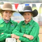 Queensland twins Keeley and Peyton Sibson (15) were both competing in the barrel racing, having...