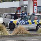 Police at an incident on the corner of Richmond St and Hillside Rd. Photo: Peter McIntosh