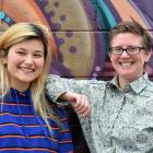 Dunedin Pride Inc contact officer Tanya Findlater (left) and OUSA Student Support senior advocate...