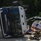 The driver of this truck was taken to Lakes District Hospital yesterday afternoon when it...