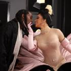 Offset and Cardi B arrive at the 1st Grammy Awards. Photo: Reuters