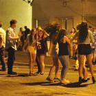 Revellers get warmed up to party in Castle St on Wednesday night.