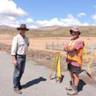 University of Otago Sciences pro-vice-chancellor Richard Barker scopes out one of the surveying...