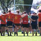 The Highlanders talk at Logan Park earlier this week as the season of 2019 arrives. PHOTO: LINDA...