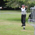 Harrison Baird (left) and Keian Sutton throw discs in the Southern Smash at Queens Park. PHOTOS:...
