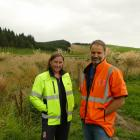 AB Lime environmental manager Fiona Smith with general manager Steve Smith in front of one of the...