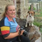 Strath Taieri Young Farmers Club member Georgie Hendrie, of Hyde, often uses her dog Swag as a...