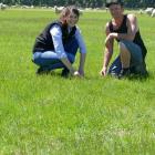Winton A&P Association farm manager Kane Gillan with Barenbrug Agriseeds pasture systems...