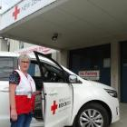 Red Cross Community Transport Service driver Sandra Stevenson prepares to head out on the road in...
