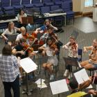 Members of the Dunedin Symphony Youth Orchestra rehearse for iD Dunedin Fashion Week. Photo:...