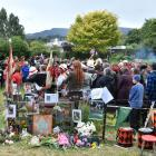 Members of the Waitati community attend a vigil for miniature horse Star, who was killed in a...