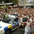 The year the toga parade turned sour in 2009. Photo: Peter McIntosh