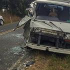 Somehow the occupants of these two vehicles managed to escape serious injury after the crash on...