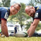 Corey Walden (left) and Dan McGrath at Logan Park earlier this week, are set to be part of a...