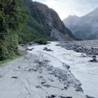 The access road to Fox Glacier was damaged in a landslip last week. PHOTO: DEPARTMENT OF...