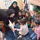 Jacinda Adern reads  The Very Hungry Caterpillar to children at the Au-Nur Child Education and...