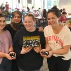 Dunedin resident Maisoon Khalil (second from left), originally of Iraq, with Otago Polytechnic...
