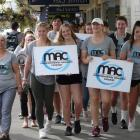 Members of the Clutha District Youth Council head a public march for methamphetamine awareness in...