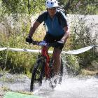 Dunedin cyclist Brent Gardyne competes in the Motatapu event last year. PHOTO: FINISHERPIX.COM