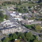 Central Wanaka, with Ardmore St running down the hill towards Lake Wanaka at centre. Photo by...