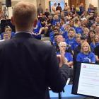 Education Minister Chris Hipkins addresses Otago Polytechnic staff during meetings in the city...