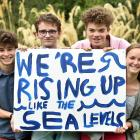 Logan Park High School pupils (from left) Zak Rudin (16), Finn McKinlay (17), Abe Baillie (16)...