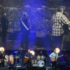 The Eagles (front from left) Vince Gill, Timothy B. Schmit, Don Henley, Deacon Frey and Joe Walsh...