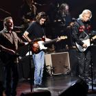 Don Henley (left), Deacon Frey and Joe Walsh of The Eagles performing in California last month....