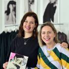 Ella Harrington Knapton (left) with Company of Strangers director Sara Munro and the work she...