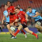 Hayden Parker in action for the Sunwolves against the Waratahs. Photo: Getty