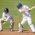 Central Distrcts opener Greg Hay smashes the ball through the offside during his innings of 145...
