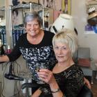 Retiring hairdresser Jenny Hyslop and her ``apprentice'' Joy Rowe (seated) at Dawn Salon in South...