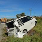 The rental sleeper van off the road near Bluff. Photo: Luisa Girao.