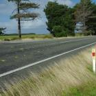 Tiwai Rd, near the intersection with Hall Rd, where a vehicle crashed yesterday, killing the...