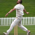 Wellington paceman Iain McPeake bowls against Otago on the second day of their Plunket Shield...