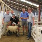 Symon Howard (left), Brent Robinson, Grant Black (holding ram), Guy Martin and Michael Robinson...