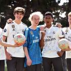 John McGlashan College Spanish language pupils (from left) Jonathan Brook (16), Bailey Phizacklea...