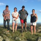 Kaikoura Young Farmers Club members (from left) Jodie Hails, Haylee Hendrie, Josh Richardson and...