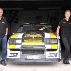 Rose and Colin Wallace (left) and Michelle and Mike Wallace with their muscle car. Photo:...