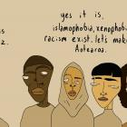 This illustration by former Oamaru artist Mark Whittet (20) has been shared widely online...