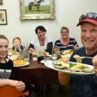 Ian Manson, of Eketahuna, prepares to enjoy the first oysters of the season at Dunedin's Best...