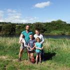 Southland farmers Jon and Birgit Pemberton, with their children Anja (8 months), Beau (8) and...