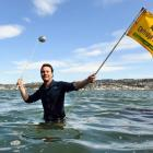 Peter Graham has won consent for a hole-in-one golf challenge on Otago Harbour. Photo: ODT