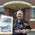 Maritime Union of New Zealand secretary Phil Adams packs sentimental items as he is evicted from...