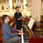 Baritone Scott Bezett rehearses for his role as Jesus in  Johann Sebastian Bach's St Matthew...