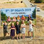 TYhe faces of Wanaka's A&P show are (from left) Angus Scurr (4), Charlotte Crosbie (5),...